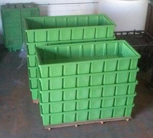 Grandi vasche in plastica a fondo piatto da 300 a 5000 litri for Vasche da giardino in plastica