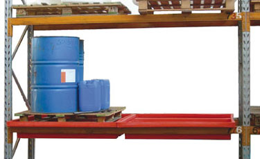 rack bund for pallettized drum, a solution for a safe storage