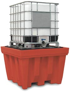 IBC spill pallet, removable desk with sump capacity 1100 liters,